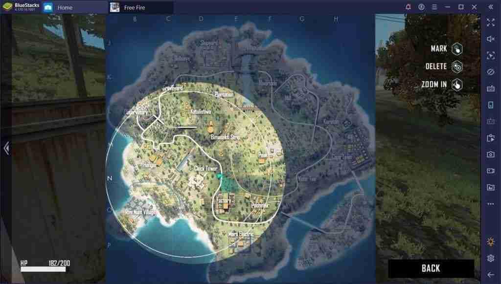 Lo que puedes ver en el mapa en Free Fire